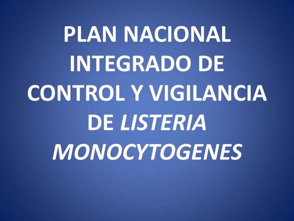 PLAN NACIONAL INTEGRADO DE CONTROL Y VIGILANCIA DE LISTERIA MONOCYTOGENES