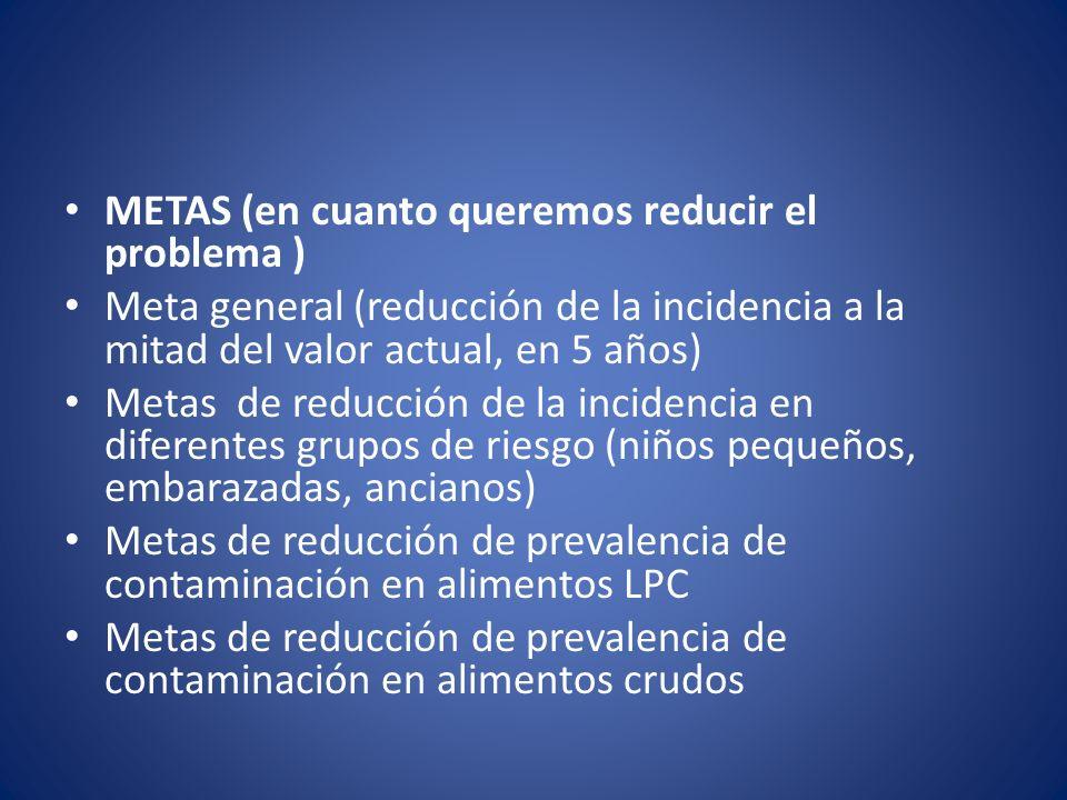 METAS (en cuanto queremos reducir el problema )