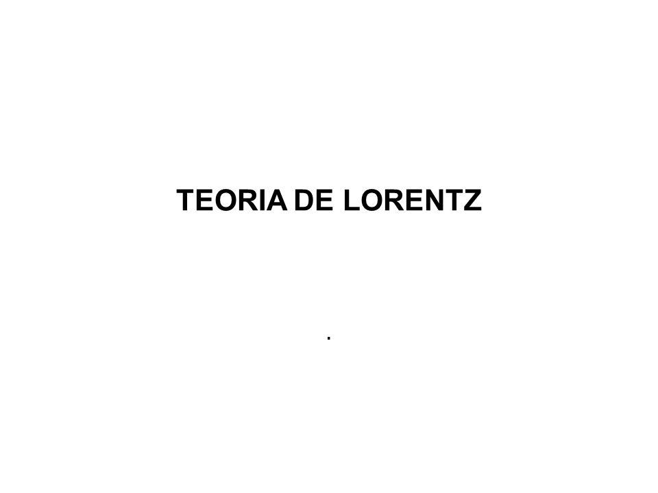 TEORIA DE LORENTZ .