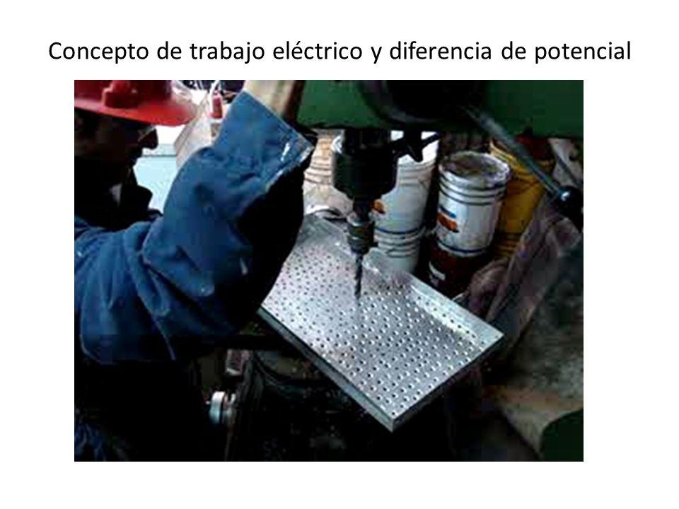 Concepto de trabajo eléctrico y diferencia de potencial