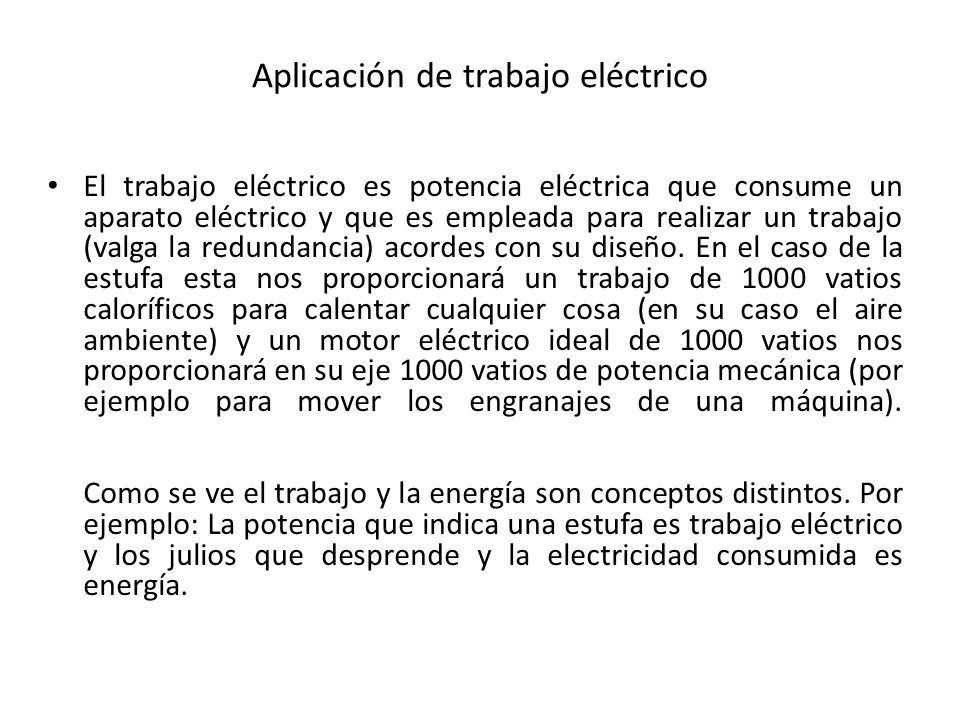 Aplicación de trabajo eléctrico