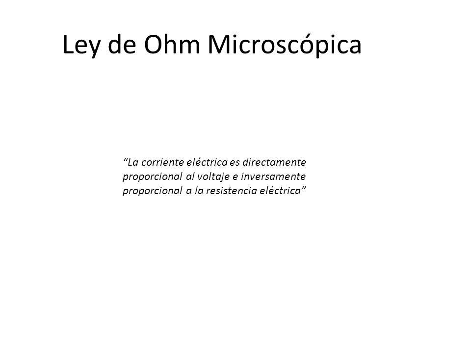 Ley de Ohm Microscópica