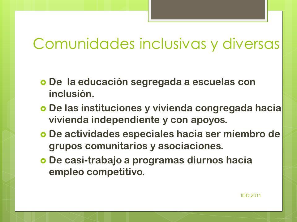 Comunidades inclusivas y diversas