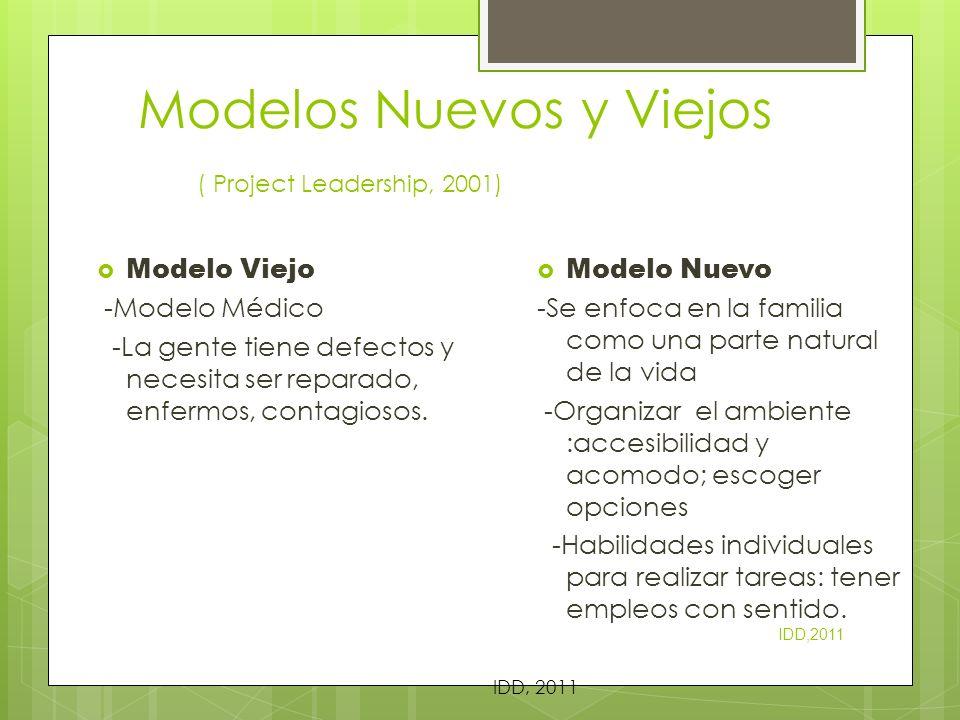 Modelos Nuevos y Viejos ( Project Leadership, 2001)