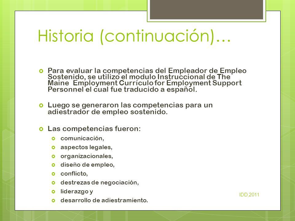 Historia (continuación)…