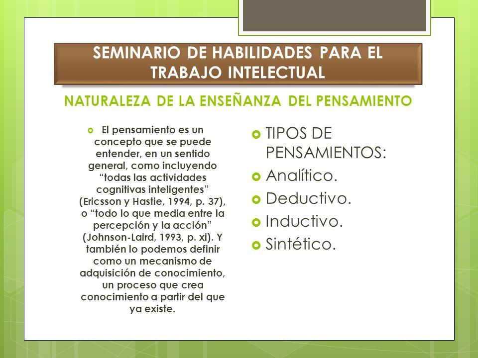 SEMINARIO DE HABILIDADES PARA EL TRABAJO INTELECTUAL