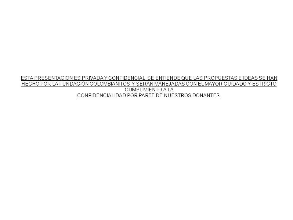 CONFIDENCIALIDAD POR PARTE DE NUESTROS DONANTES.