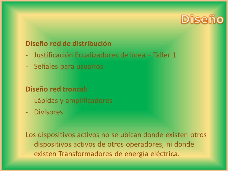 Diseño Diseño red de distribución