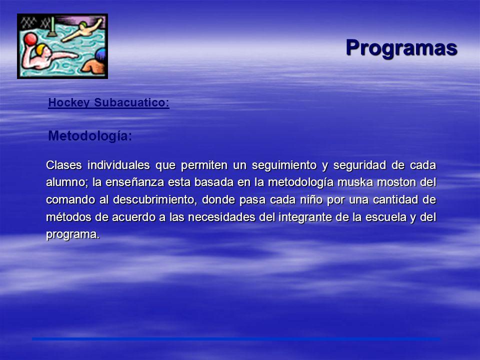 Programas Metodología: Hockey Subacuatico: