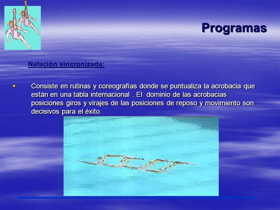 Programas Natación sincronizada:
