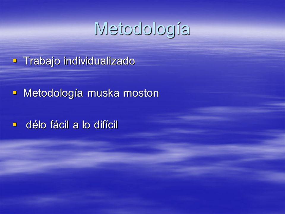 Metodología Trabajo individualizado Metodología muska moston