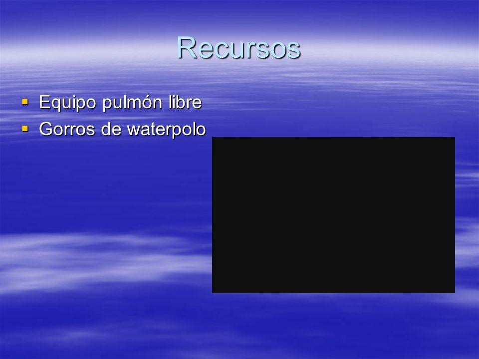 Recursos Equipo pulmón libre Gorros de waterpolo