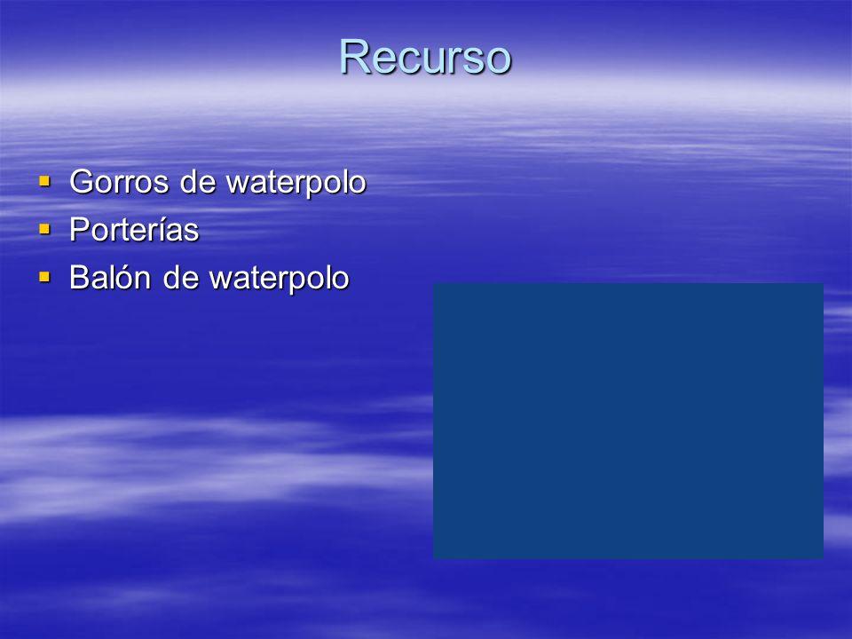 Recurso Gorros de waterpolo Porterías Balón de waterpolo
