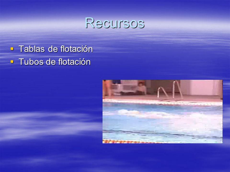 Recursos Tablas de flotación Tubos de flotación