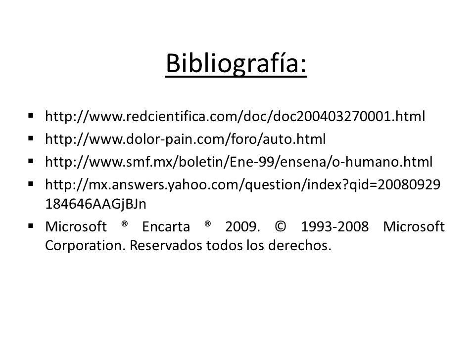 Bibliografía: http://www.redcientifica.com/doc/doc200403270001.html