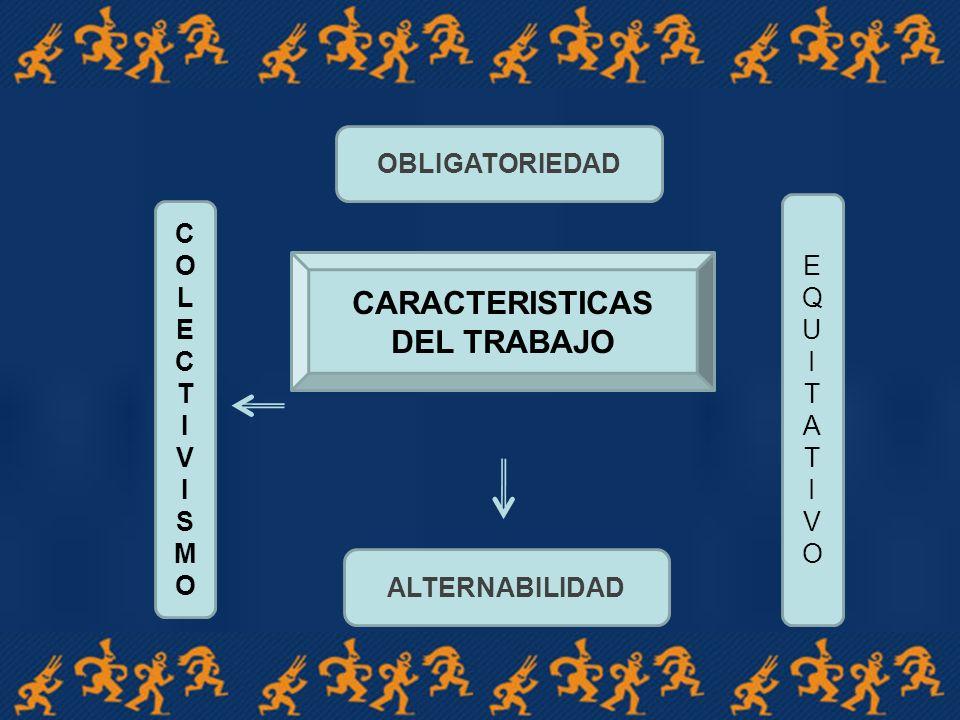 CARACTERISTICAS DEL TRABAJO