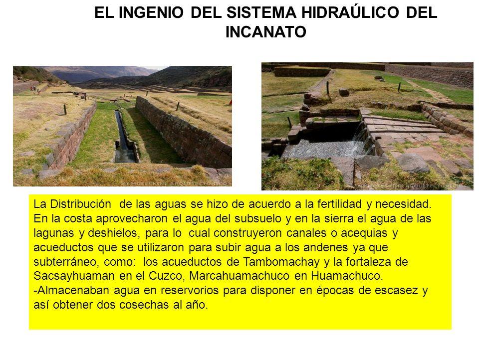 EL INGENIO DEL SISTEMA HIDRAÚLICO DEL INCANATO