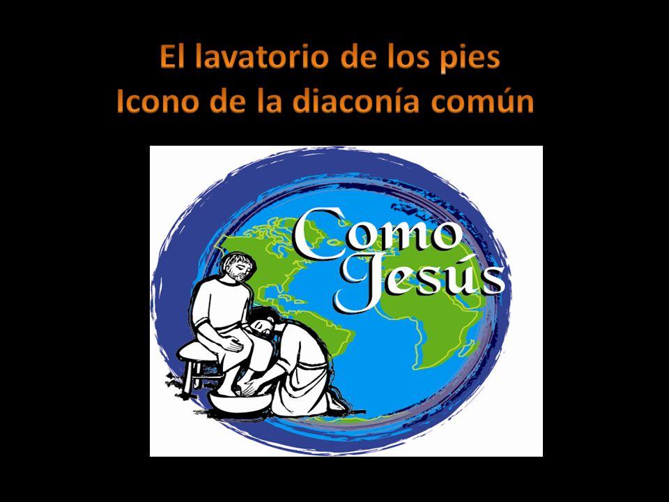 El lavatorio de los pies Icono de la diaconía común