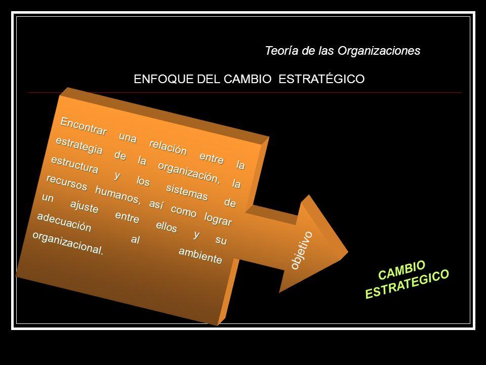 ENFOQUE DEL CAMBIO ESTRATÉGICO