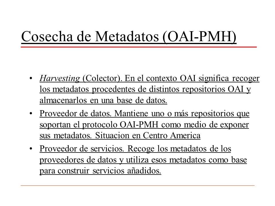 Cosecha de Metadatos (OAI-PMH)