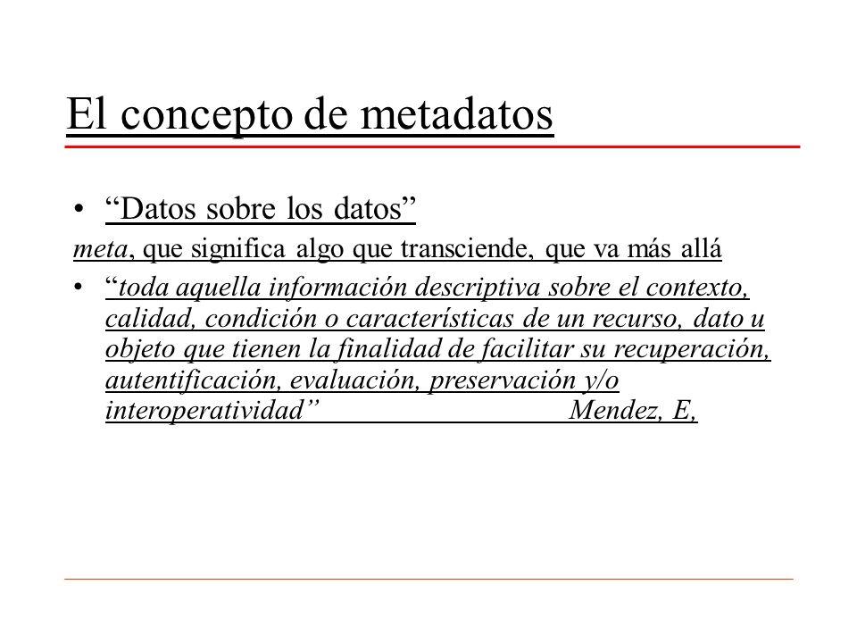 El concepto de metadatos