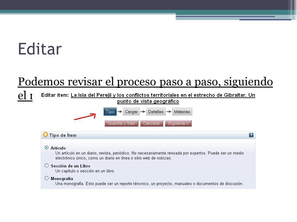 Editar Podemos revisar el proceso paso a paso, siguiendo el mismo proceso del autoarchivo