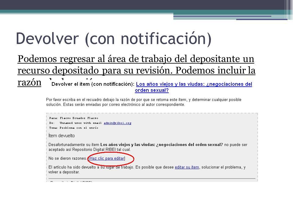 Devolver (con notificación)