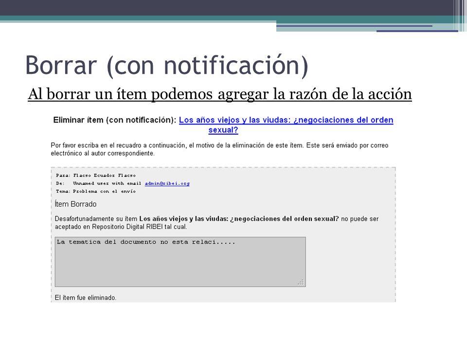 Borrar (con notificación)
