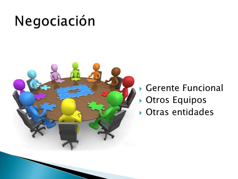 Negociación Gerente Funcional Otros Equipos Otras entidades
