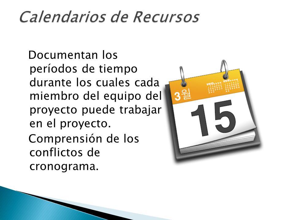 Calendarios de Recursos