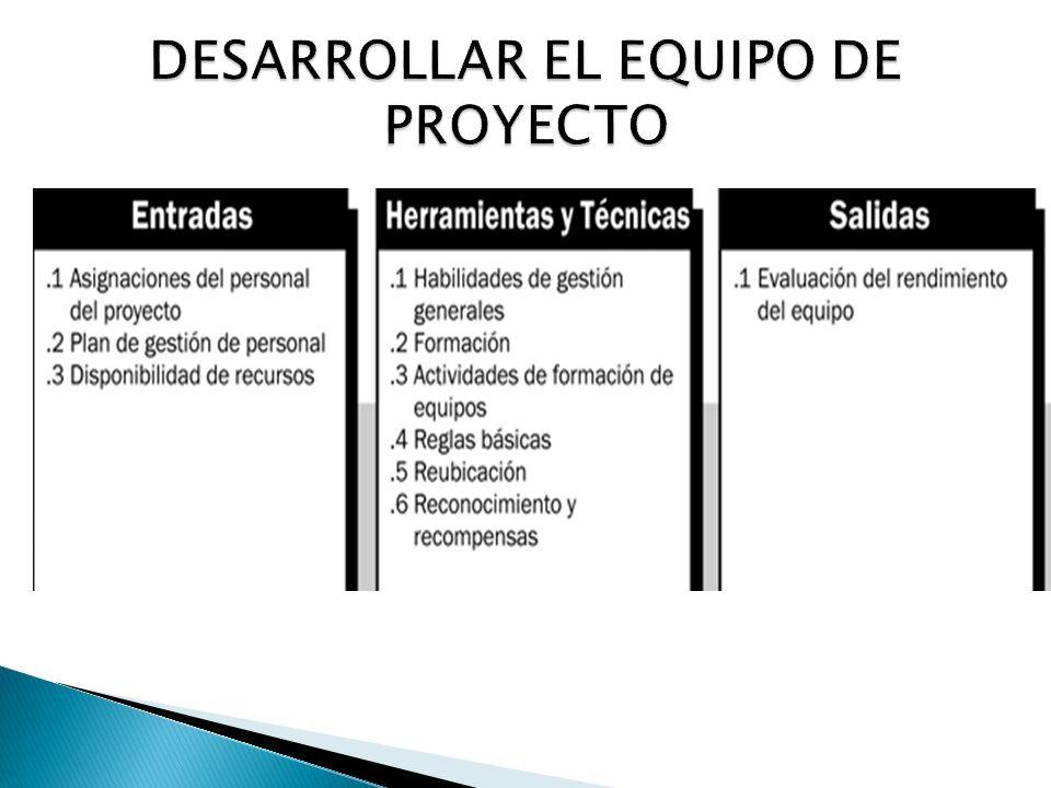 DESARROLLAR EL EQUIPO DE PROYECTO