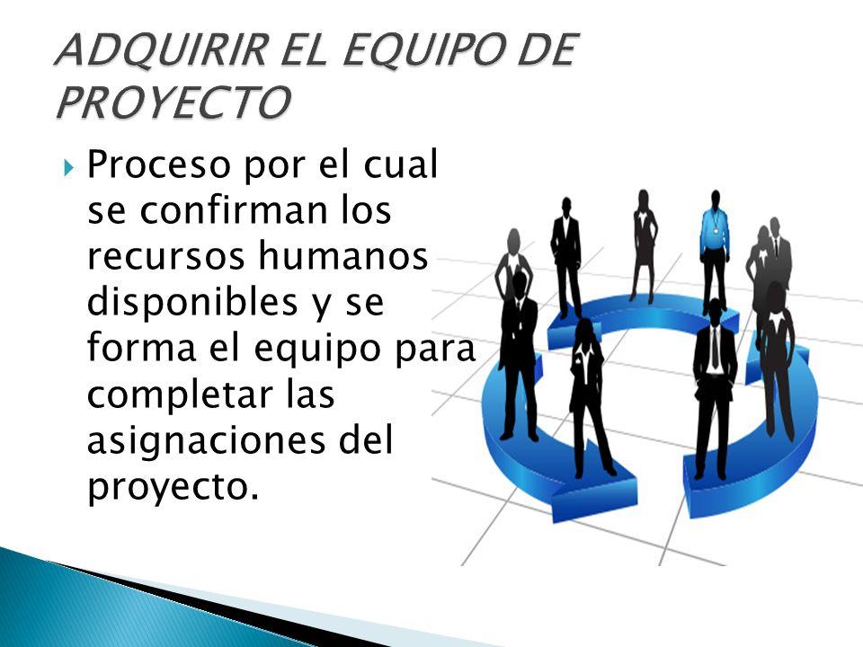 ADQUIRIR EL EQUIPO DE PROYECTO
