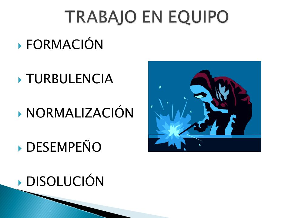 TRABAJO EN EQUIPO FORMACIÓN TURBULENCIA NORMALIZACIÓN DESEMPEÑO