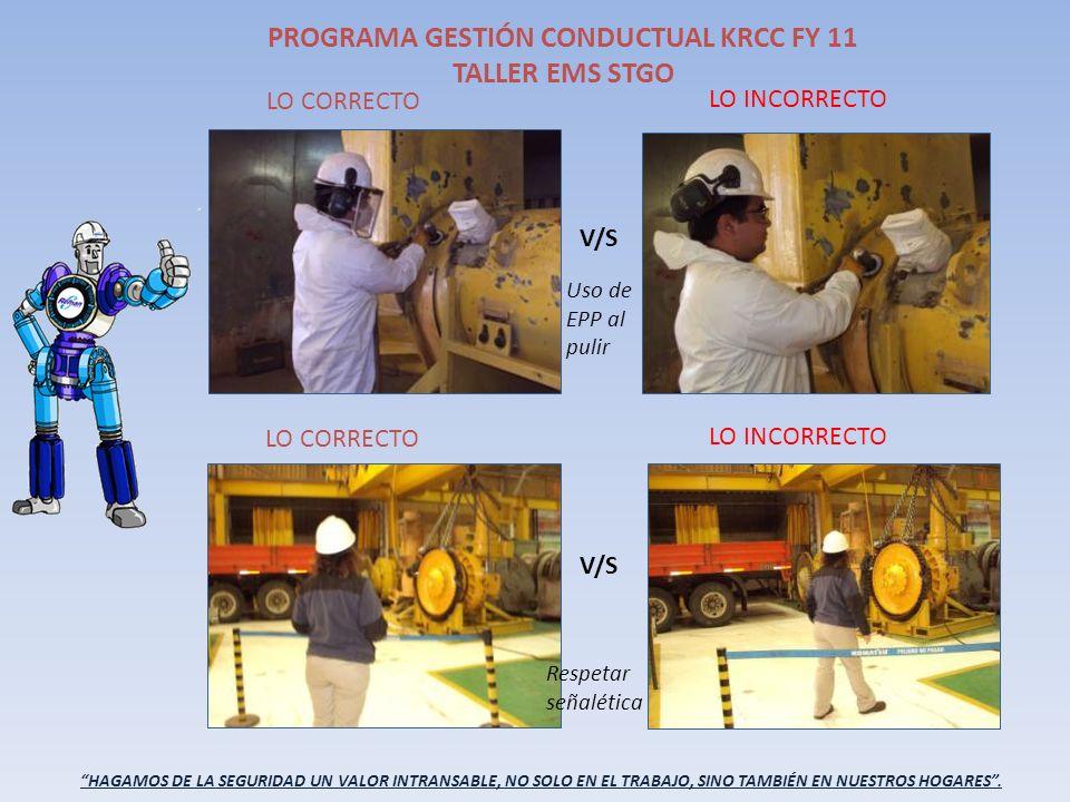 PROGRAMA GESTIÓN CONDUCTUAL KRCC FY 11