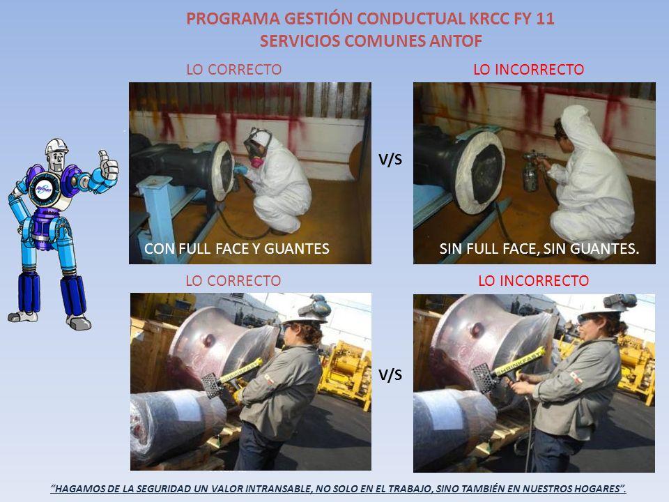 PROGRAMA GESTIÓN CONDUCTUAL KRCC FY 11 SERVICIOS COMUNES ANTOF
