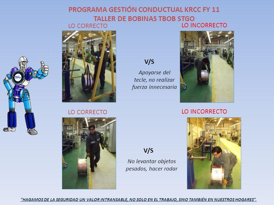 PROGRAMA GESTIÓN CONDUCTUAL KRCC FY 11 TALLER DE BOBINAS TBOB STGO