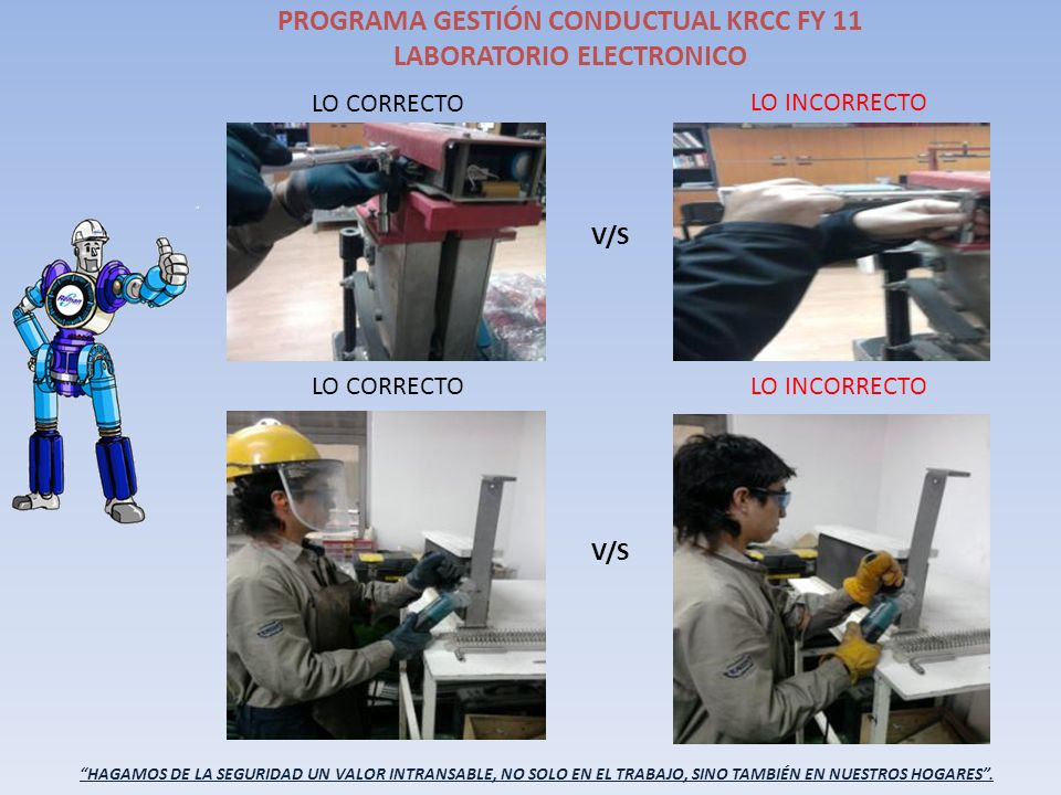 PROGRAMA GESTIÓN CONDUCTUAL KRCC FY 11 LABORATORIO ELECTRONICO