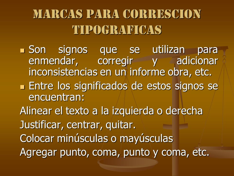 MARCAS PARA CORRESCION TIPOGRAFICAS