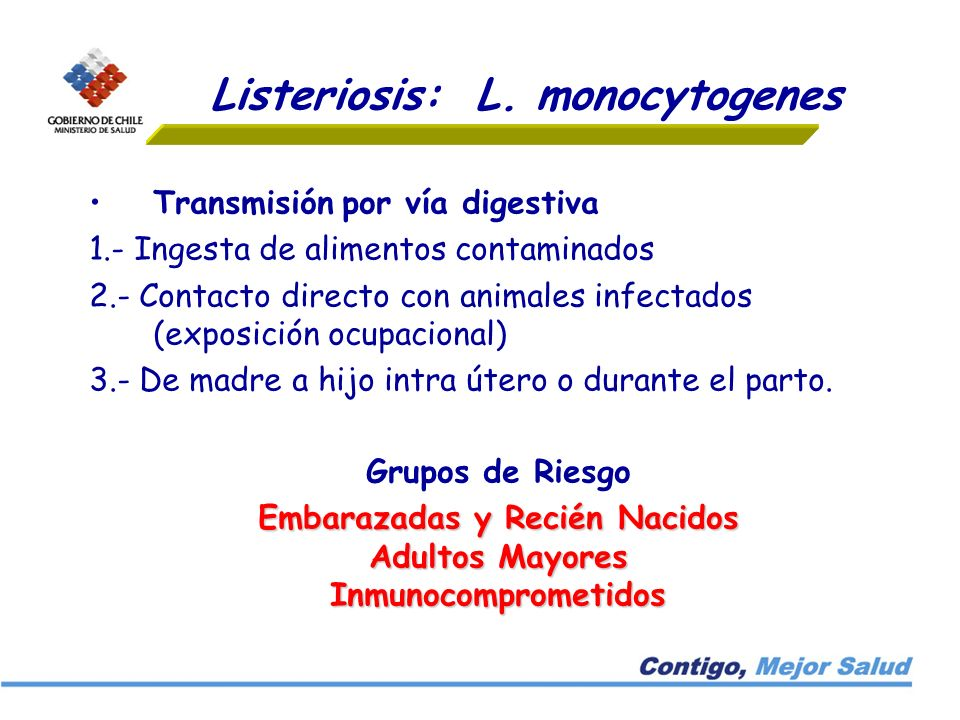Listeriosis: L. monocytogenes