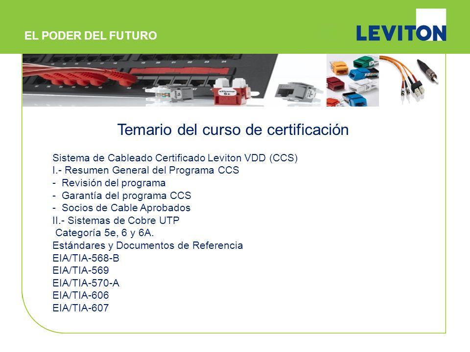 Temario del curso de certificación