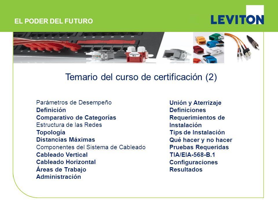 Temario del curso de certificación (2)