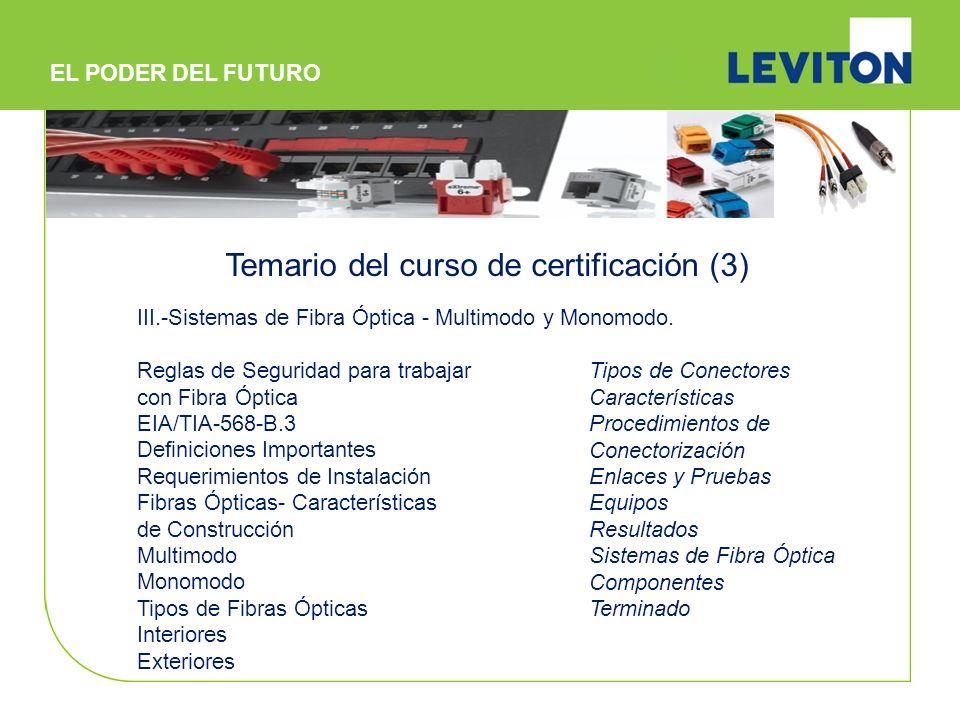 Temario del curso de certificación (3)