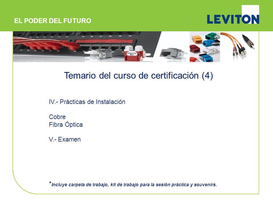 Temario del curso de certificación (4)