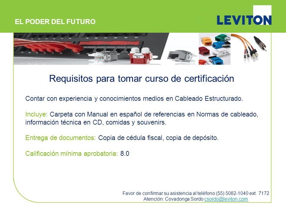 Requisitos para tomar curso de certificación