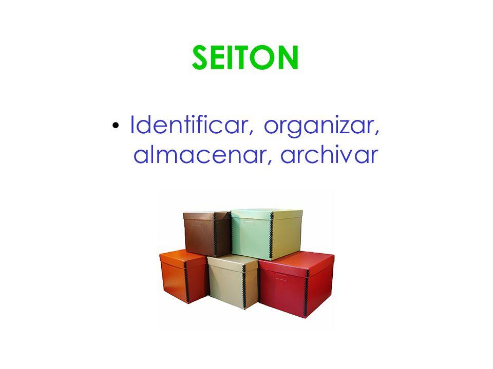 Identificar, organizar, almacenar, archivar