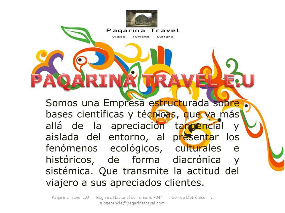 PAQARINA TRAVEL E.U