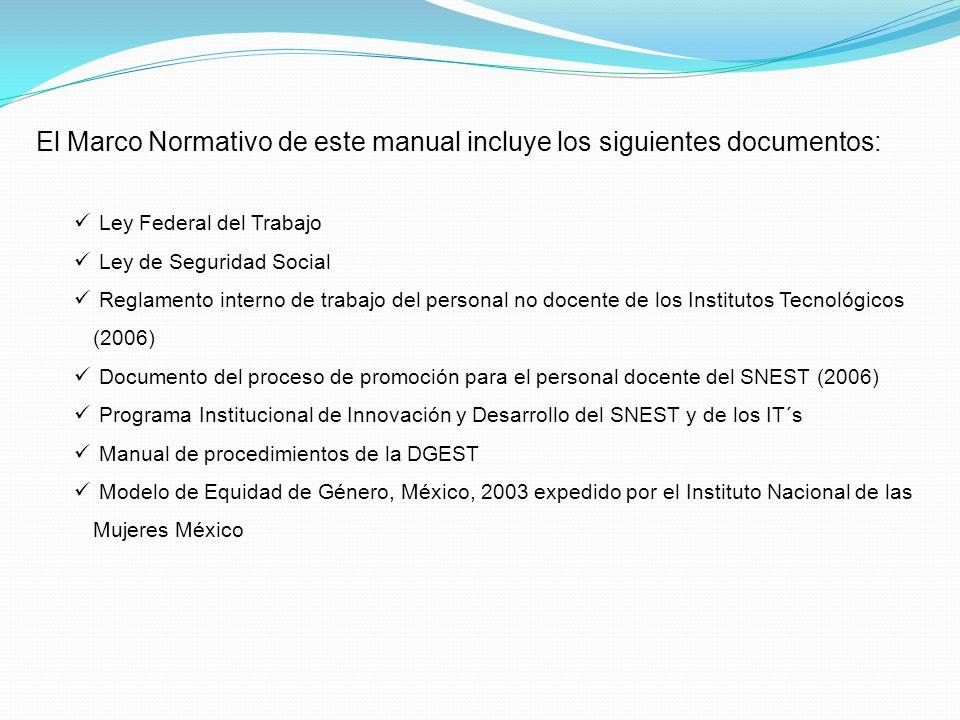 El Marco Normativo de este manual incluye los siguientes documentos: