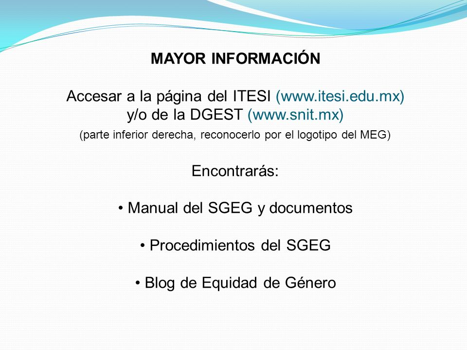 Accesar a la página del ITESI (www.itesi.edu.mx)