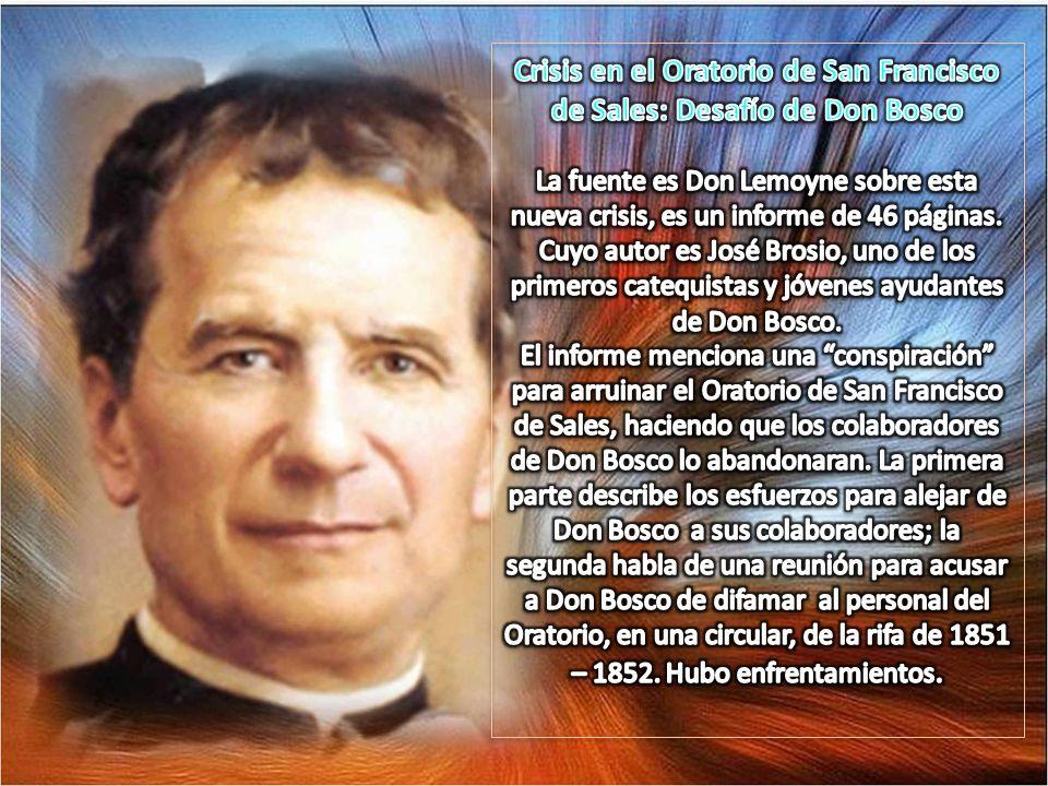 Crisis en el Oratorio de San Francisco de Sales: Desafío de Don Bosco