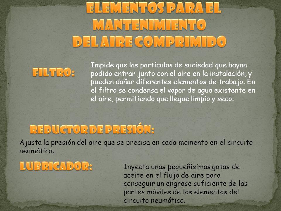 Elementos para el mantenimiento del aire comprimido
